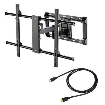 "Ready Set Mount Articulating LCD Wall Mount for 37"" to 65"" Screens in Hi-Gloss Black"