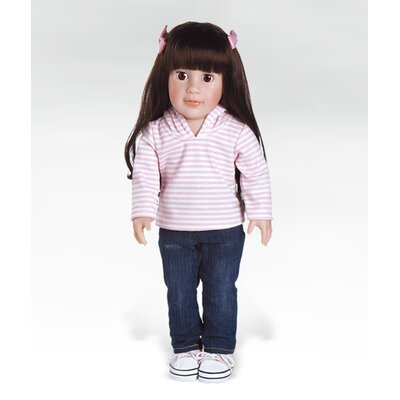 Adora Dolls Girl Play Doll Emily Ready for Fun - Brunette Hair Brown Eyes