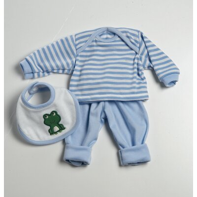 Baby Doll Accessories 3 Pieces Play Set in Blue