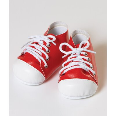 "Adora Dolls 20"" Doll Tennis Shoes in Red / White"