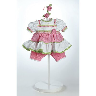 "Adora Dolls 20"" Baby Doll Polka Dot Rose Costume"