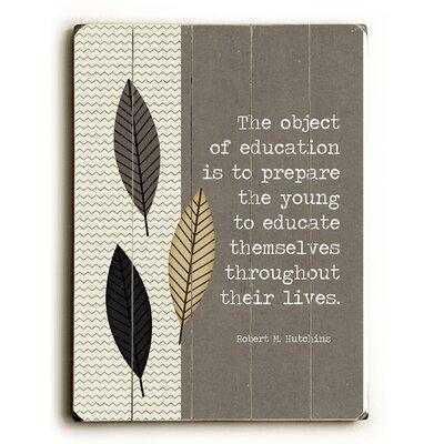 Artehouse LLC Education Wood Sign