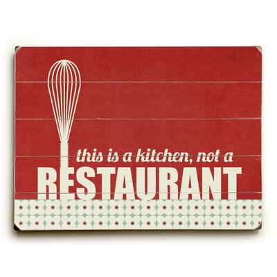 This is a Kitchen Wood Sign