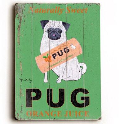Artehouse LLC Pug Vintage Advertisement Plaque