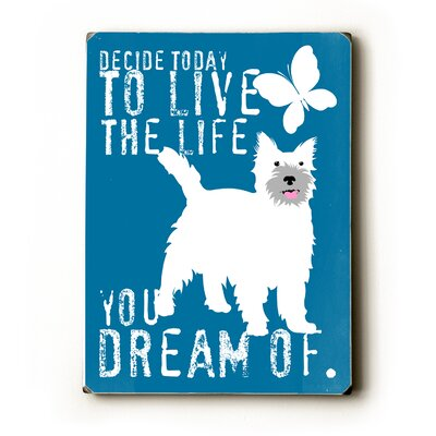 "Artehouse LLC Live the Life Wood Sign - 12"" x 9"""