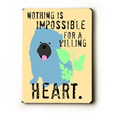 "Artehouse LLC Willing Heart Wood Sign - 12"" x 9"""