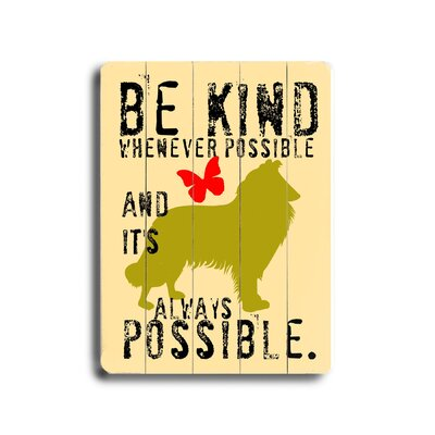 "Artehouse LLC Be Kind Wood Sign - 12"" x 9"""