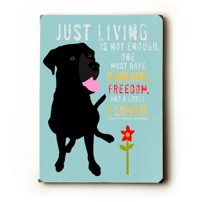 Artehouse LLC Just Living Textual Art Plaque