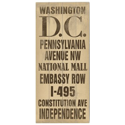 Washington DC Transit Textual Art Plaque