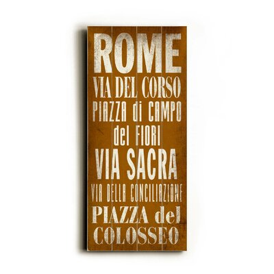 Artehouse LLC Rome Transit Wood Sign