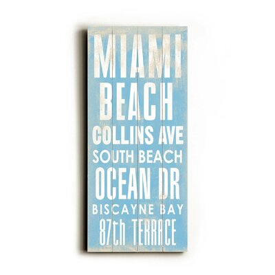 Artehouse LLC Miami Beach Transit Wood Sign