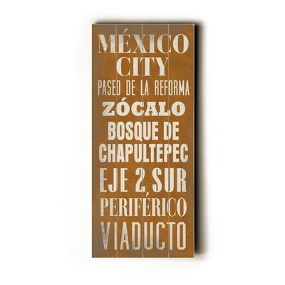 Artehouse LLC Mexico City Wood Sign