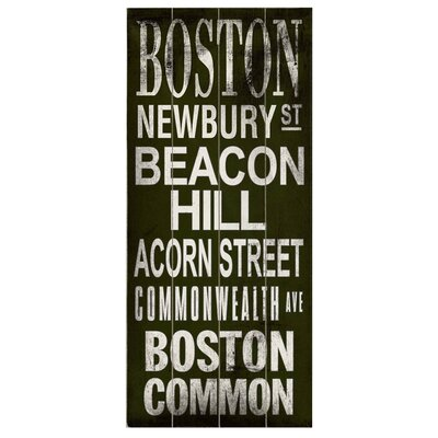 Artehouse LLC Boston Transit Beacon Hill Textual Plaque
