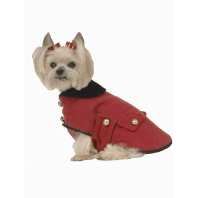 Max's Closet Military Dog Coat in Red