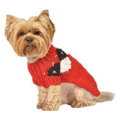 Max's Closet Modern Argyle Dog Sweater