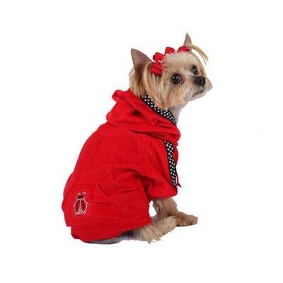 Max's Closet Dog Hoodie with Lady Bug Pocket