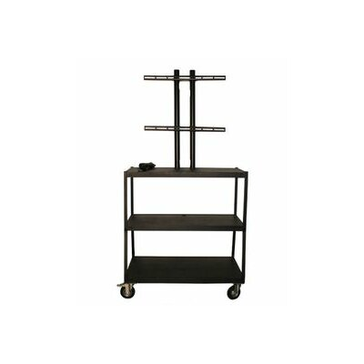 "Vutec 27 - 42"" Flat Panel Cart with 4 Outlets - 44"" Adjustable Height"