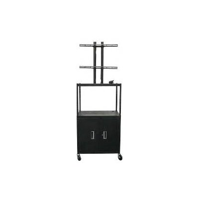 "Vutec 27 - 50"" Flat Panel Cart with Cabinet and 4 Outlets - 34 - 54"" Adjustable Height"