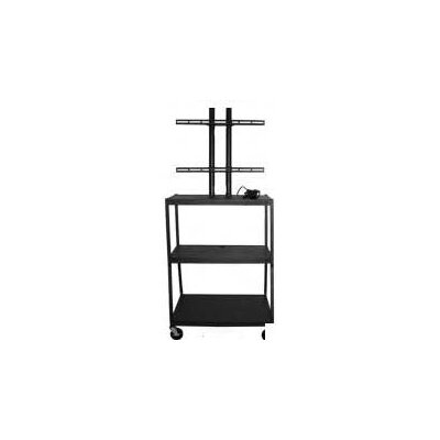 Vutec 27 - 42&quot; Flat Panel Cart, Adjustable 34 - 54&quot; with 4 Outlets