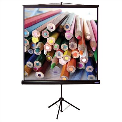 "Vutec Matte White Tripod T Portable Screen - 80"" x 80"" AV Format"