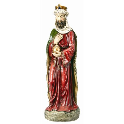 King and Jar Statue
