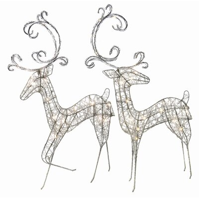 Regency International LED Acrylic Lighted Deer Figurine