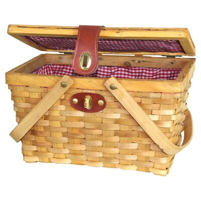 <strong>Quickway Imports</strong> Chipwood Picnic Basket