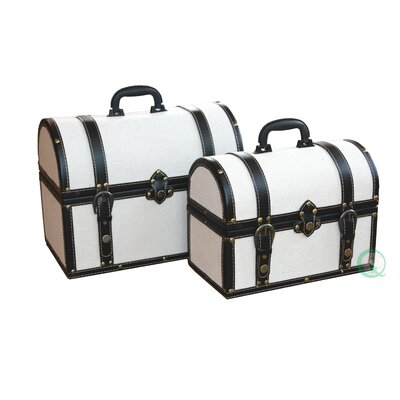 Quickway Imports Fabric Storage Trunk (Set of 2)