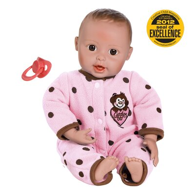 "Charisma Adora ""Giggle Time Baby Girl"" Doll with Light Skin Tone/Brown Hair/Brown Eyes"