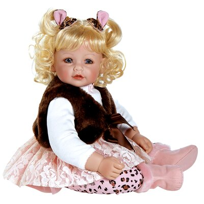 "Charisma Adora ""Giggle and Growls"" Doll with Light Blond Hair / Blue Eyes"