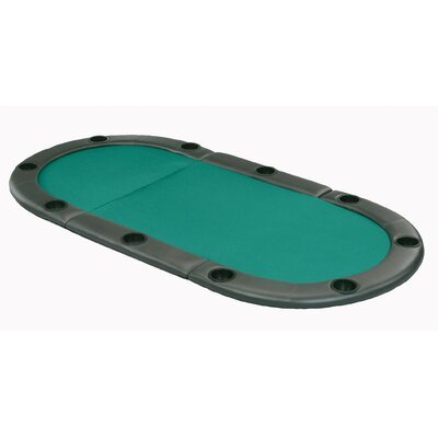 Oval Folding Poker Table Top