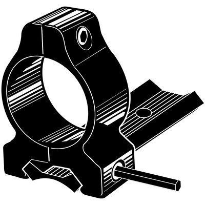 "Kwik-Site Dovetail Style 1"" Rings and Base Set fits Winchester 70, 670, 770 in Matte Black"