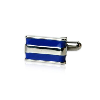 Cuff-Daddy Two-Bar Cufflinks in Blue