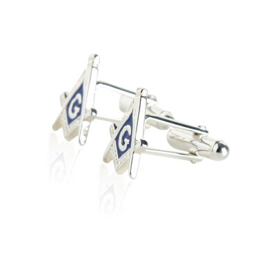 Cuff-Daddy Masonic Cufflinks in Sterling Silver