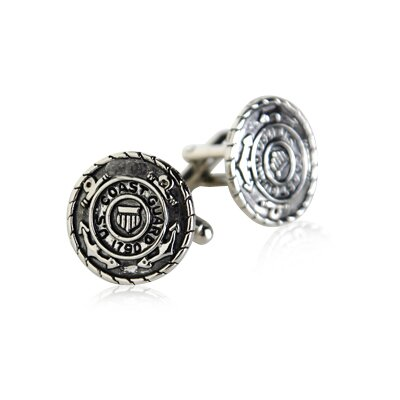 Cuff-Daddy US Coast Guard Cufflinks in Silver