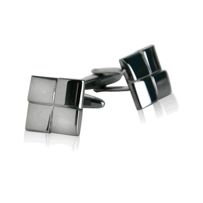 Square Cufflinks in Gun Metal