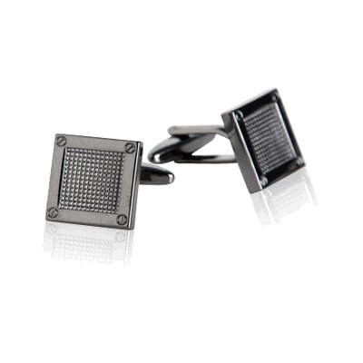 Contemporary Cufflinks in Gun Metal