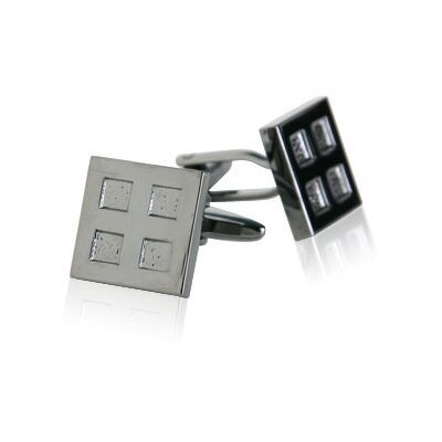 Four Square Cufflinks in Gun Metal