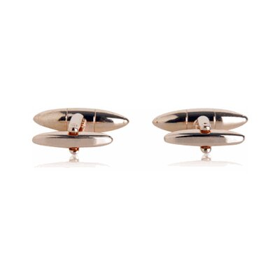 Cuff-Daddy Torpedo Cufflinks in Rose Gold