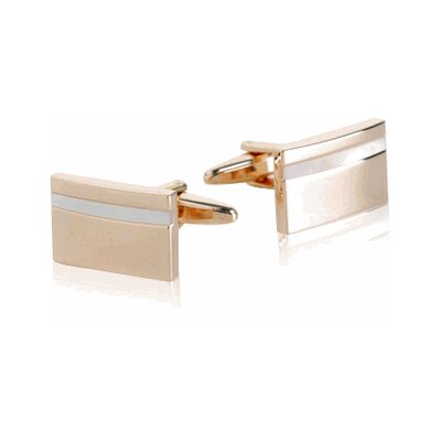 Cuff-Daddy Mother of Pearl Cufflinks in Rose Gold