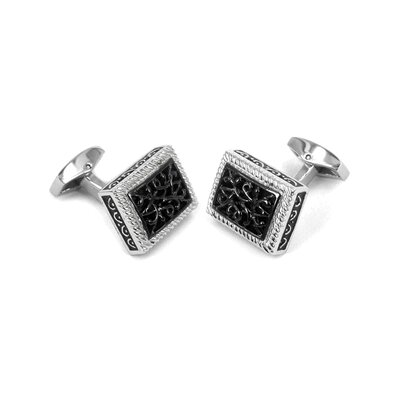 Cuff-Daddy Cufflinks in Black / Stainless
