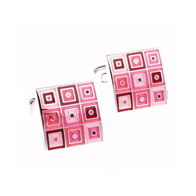 Cuff-Daddy Quilted Cufflinks in Pink