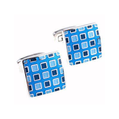 Cuff-Daddy Pixelated Cufflinks in Blue