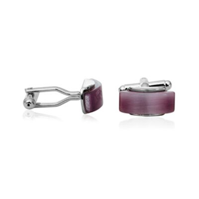 Cuff-Daddy Lavender Glass Cufflinks