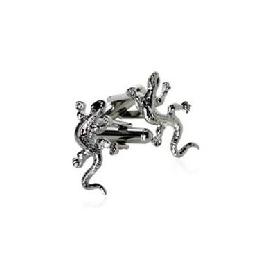 Cuff-Daddy Gecko Cufflinks in Silver