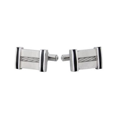 Cables Cufflinks in Stainless Steel
