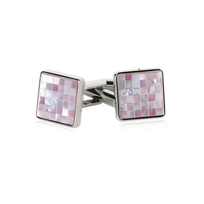 MOP Mosaic Cufflinks in Pink