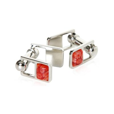 Hinge Cufflinks in Red