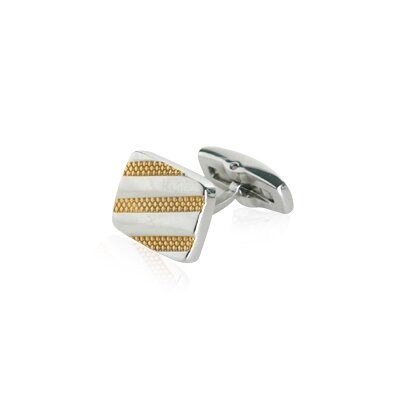 Cuff-Daddy Look Great Striped Cufflinks in Gold