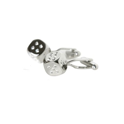 Cuff-Daddy Crystal Dice Cufflinks